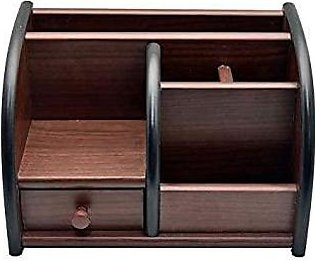 Wooden Pen Stand Big Size with Drawer, Mobile Holder & Remote Stand for Office …