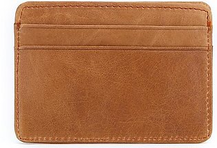 Women & Man Leather Card Holder Cowhide Card Wallet Small Thin Card Package