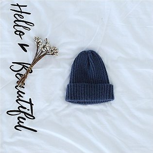 Autumn Winter Fashion Baby Warm Cap Knitted Hat Kids Solid Color Knitting Cap