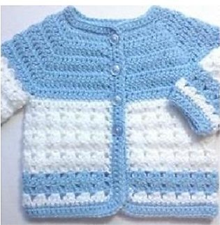 Crochet baby blue coat  Baby boy jacket - Baby girl blue sweater - Baby shower …