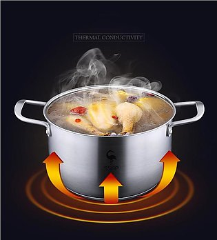 1PC Stainless Steel Pot Furnace Heated Bowl With Handle Heated Butter Baking Pa…