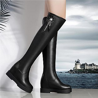 Women Over The Knee Winter Warm High Heels Long Shoes Boots