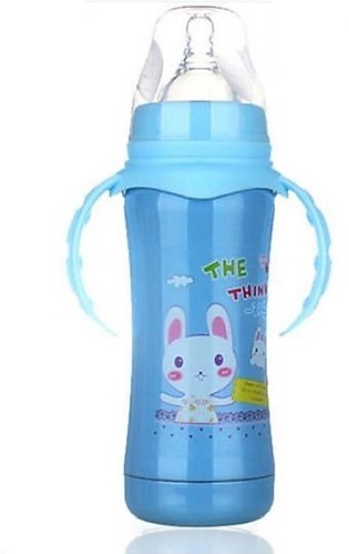 Stainless Steel Baby Feeder Bottle - Blue & Pink