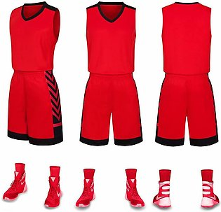 Mens Basketball Jersey Quick-dry Athletics Training Suit