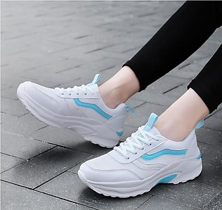 Sneaker For Women Korean Fashion Sport Running Shoes Lace-up Casual Shoes Sprin…