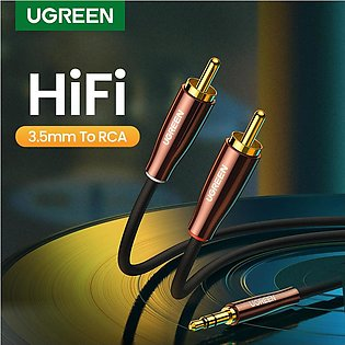 UGREEN RCA Cable 2RCA to 3.5mm Hi-Fi Nylon-Braided RCA to AUX Audio Cable For D…