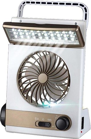 Solar Power Rechargeable Multifunctional Cooling Fan And LED Light For Camping …