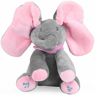 Elephant Stuffed Toy Electric Music Elephant Hide And Seek Toy Baby Toy