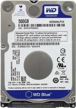 "500 GB - SATA Hard Disk Drive 2.5"" for Laptop (100% health and new)"