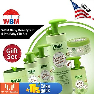 WBM Baby Gift Set (Pack of 6) - 3 In 1 Baby Shampoo, Baby Lotion,Baby Hand Wash…
