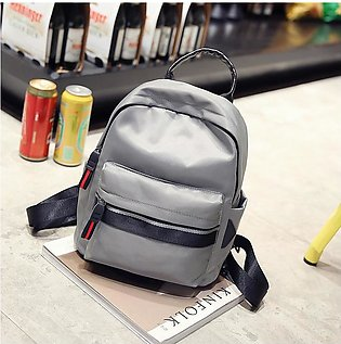 Popular Girl Backpack Nylon Solid Color Korean Style Small Backpacker Stitching…