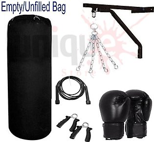 Boxing Punch Bag, hanging chain, standard wall bracket, Boxing gloves, jumping …