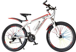 Best Cycle For Boys Dolphin River 26 inch Bicycle - White and Red