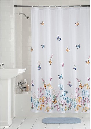 Assorted Design PVC Waterproof Plastic Shower Curtain Liner - 140 x 180 cm