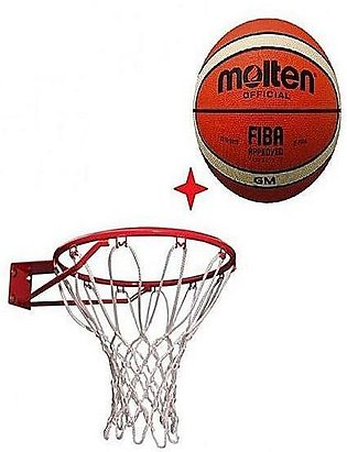 Molten Official Basketball With Free Basketball Net home gym used