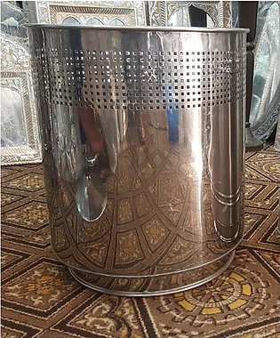 Stainless Steel Plant Pot, SS Pot, Artificial Plants Pot – 14 x 14 Inches