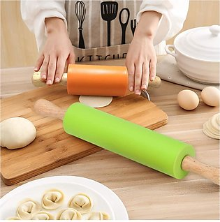 Silicone Rolling Pin for Baking, Roller Pin Non-stick Surface and Comfortable W…