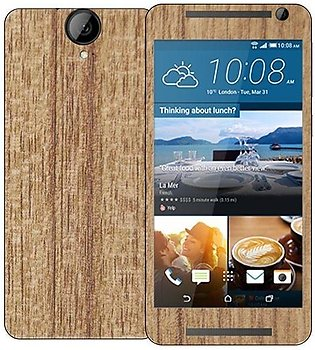 HTC One E9+  Wooden Texture Mobile Skin - Mahogany