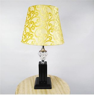 Pair of Wooden Pillar with Crystal Glass Bedroom Table Lamp - TTL5 - Brown