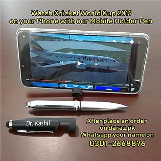 Customized Name Pen With Stylus, Torch & Mobile Holder