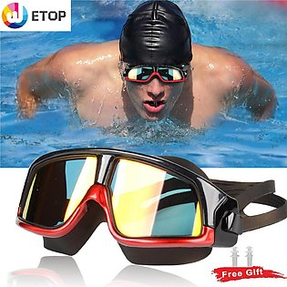 Swimming Goggles, Premium Polarized Big Frame Competition Swim Goggles Clear Le…