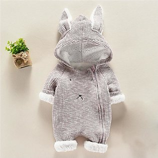 2019 Newborn Infant Baby Boy Girl Cartoon Hooded 3D Ear Romper Jumpsuit Clothes