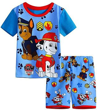 Children'S Summer Child Set Paw Patrol Boy Short Sleeve Shorts Two Pieces Child…