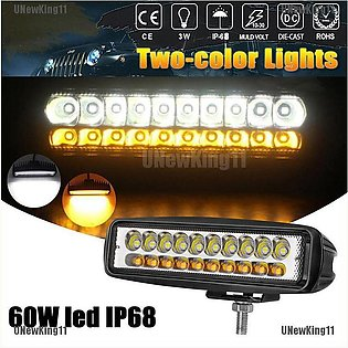 6inch 80W 20 LED 12V Work Light Flood Beam Driving Fog Headlights Lamp Bar Moto…