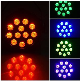 Par Light 12 LED RGB 18W Stage Lighting Club Disco Party Ballroom KTV Bar - bla…