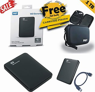 USB 3.0 Portable External Hard Drive 1TB WITH FREE SAFETY POUCH