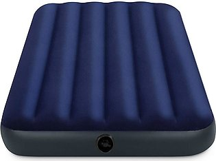 Blue Inflatable Air Mattress Twin Size Intex Classic Downy Air Bed Sleeper