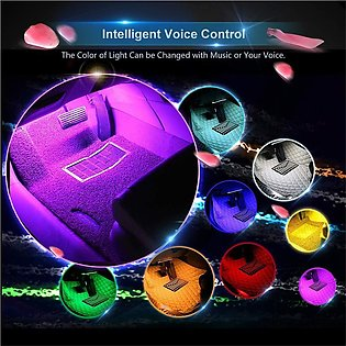 Car Auto Interior Atmosphere Lights Decoration Lamp multi colour with remote