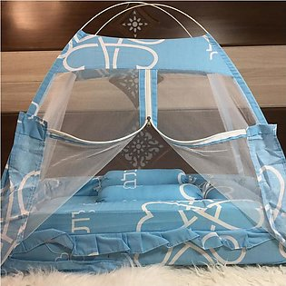 Super Soft Baby Bed Set With 1 Pillow 2 Cushions and Mosquito Net