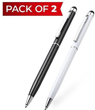 Pack of 2 - Aluminum 2 In 1 Ball Pen Touch Screen Stylus For iPhone and Android…