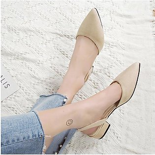Women's sandals thick with suede low heel casual shoes student sandals