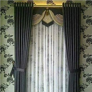 Fancy Cotton Satin Curtain For Home/Office 05