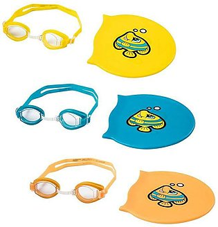 Bestway – Hydro-Swim Lil Racer Swimming Goggles and Cap Set For Kids – 6 inches…