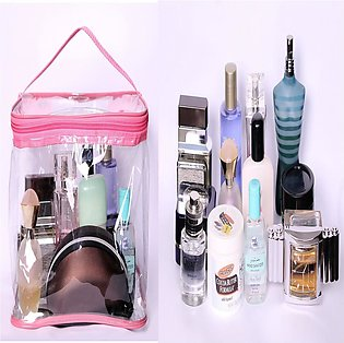 Makeup Bag Zipper Waterproof Transparent Travel Storage Pouch Cosmetic Toiletry…