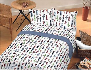 1 Single Bedsheet 2 pillow cover 1 comfater with attach filling