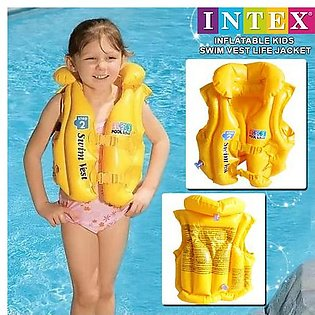 INTEX Pool Swim Life Jacket For Kids Best Gift For your Kid Swimming Water Life…