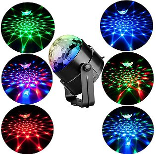 7 Colors DJ Disco Ball Lumiere 3W Sound Activated Laser Projector RGB Stage Lig…