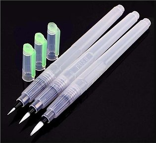 Set of 3 Water Brush Pen Marker Ink Water Colors Colour