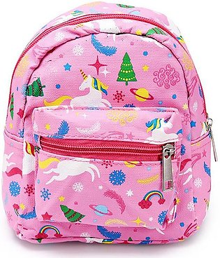 Flower Skin Small Backpack Cosmetic Bag Portable Beauty Pouch Bag Toiletry