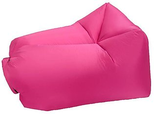 Inflatable Air Sofa Bed Lazy Sleeping Camping Bag Beach Hangout Couch Windbed 1…
