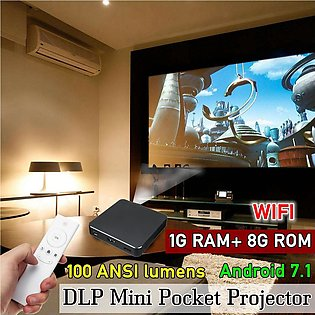Android Mini Smart Projector Pocket Media Player DLP Mobile Keystone Correction
