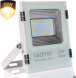 LEDMO 30W Warm White LED Flood Light, Super Bright High Output 2700 Lumen, Wate…