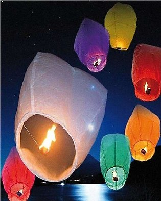 Pack of 10 Flying Sky Lanterns for Marriages and Events