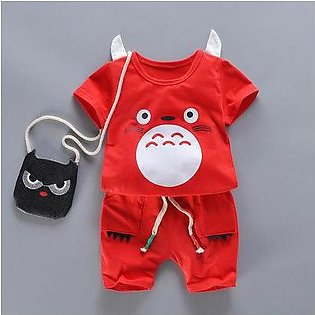 6 months-5 years baby boy summer fantastic red shirt with imported shorts-ISLAM…