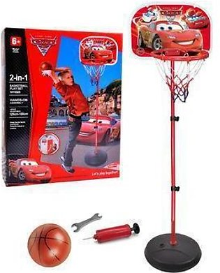 2 In 1 Cars Basketball Play Set Sport Series