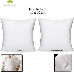 Set Of 4 Cushions 16×16 With Free 2 Pillows Filled With Imported White Ball Fib…